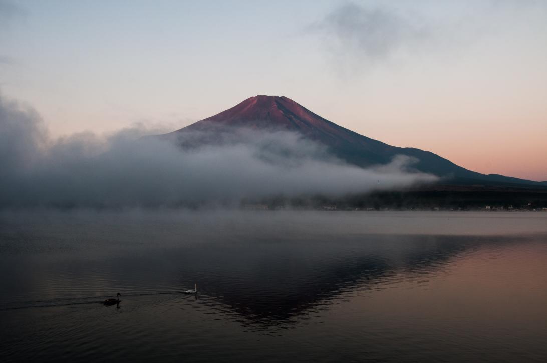 Urkunde Anja Giegerich_Japan_Mount Fuji im Nebel