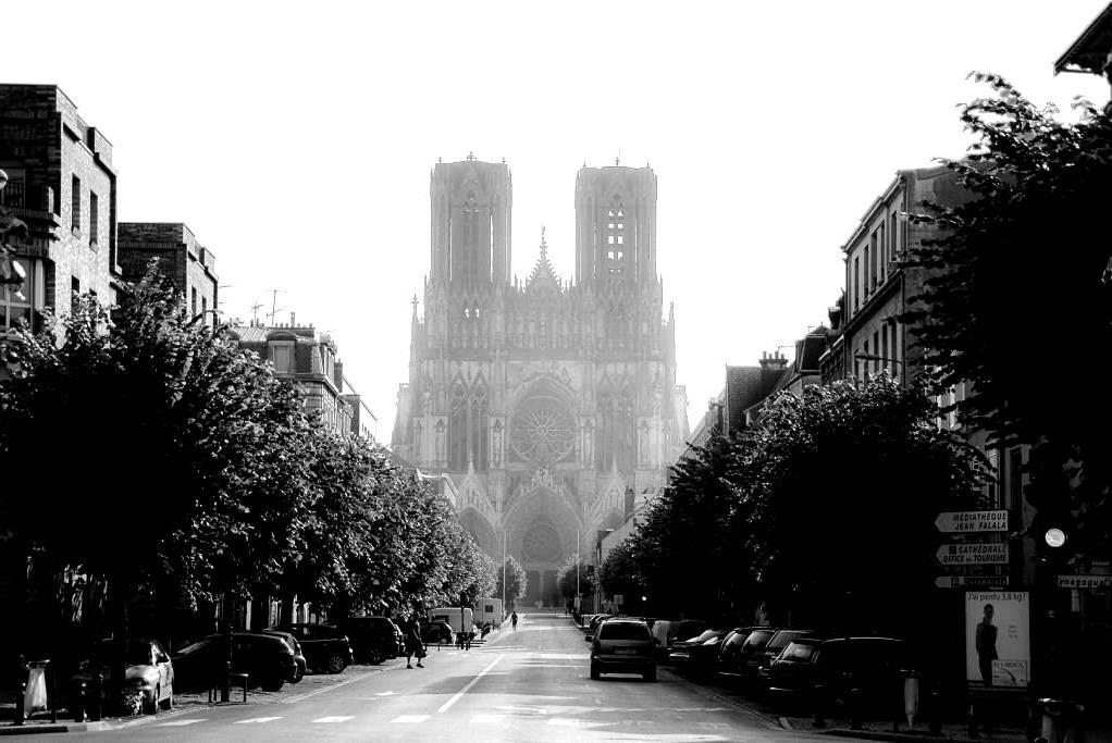 Link_Karl-Heinz_Kathedrale von Reims morgens gegen 7 Uhr